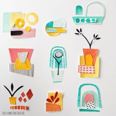 JULIE HAMILTON - paper collage - Tiny tidbits for #the100dayproject