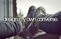 I have designed my own Converse, but I want to actually order them!