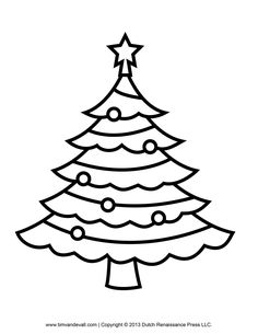 Best Photos of Christmas Tree Outline Drawing - Christmas Tree ...
