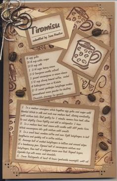 tirimisu recipe card by janiekay - Cards and Paper Crafts at Splitcoaststampers