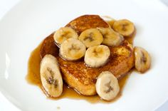 Bananas Foster French Toast {for C's birthday breakfast}