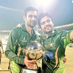 Pakistan cricket team after winning t20 series against zimbabve in 24-may-2015 in Lahore gaddafi stadium