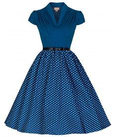 6b6a30cfd99 Lindy Bop 50 s Megan Rockabilly Polka Dot Dress Vêtements Chics