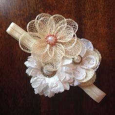 Vintage hairband  Bows by Melissa