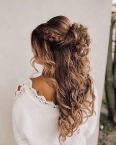 High Ponytail Hairstyles, Wedding Hairstyles For Long Hair, Bride Hairstyles, Hairstyles With Bangs, Blonde Hair With Highlights, Balayage Hair Blonde, Brown Blonde Hair, Quince Hairstyles, Long Hair Wedding Styles