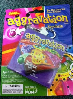 Basic Fun Aggravation Game Keychain NIP | eBay