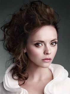 """fuckyeahhotactress: """" Christina Ricci, photographed by Victor Demarchelier for The Edit, July """" Christina Ricci, Christina Aguilera, Seinfeld, Covergirl Makeup, Aquarius, Hair Rainbow, Victor Demarchelier, Portraits, Foto Pose"""