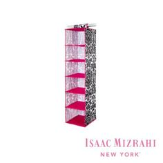 Amazon.com: Isaac Mizrahi Hanging 6 Shelf Closet Organizer, Damask Design: Home & Kitchen