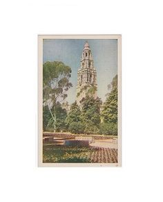 Vintage Postcard: Viewing the Imposing by TazamarazVintage on Etsy