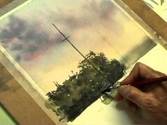 ▶ Watercolor Painting Shoal Bay Sunset Part 3 The Boats - YouTube
