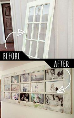 DYI Picture frame, recycle, window.