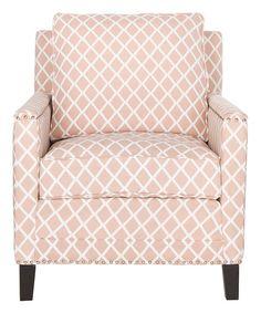 This Peach & White Galena Club Chair is perfect! #zulilyfinds