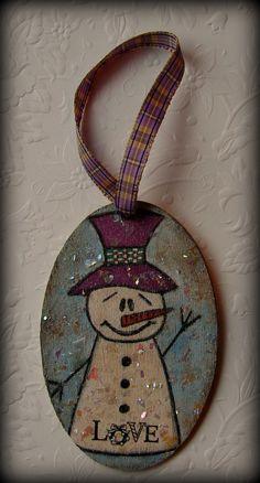 I love snowmen. Ornament.