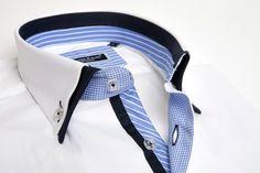 Franck Michel - White double collar shirt - Men Fashion - 2