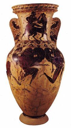 Anfora di Atene (ultimo ventennio del VII sec. a.C.) - Pittore di Nesso