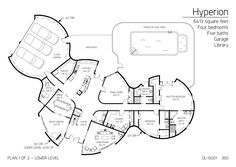 Floor Plan: DL-6001 | Monolithic Dome Institute