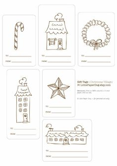 Free Printable Holiday Gift Tags: Little Paper Dog