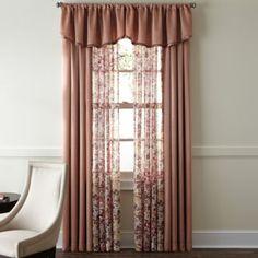 jcp | Liz Claiborne® Sabra Textured Sheer Window Treatments