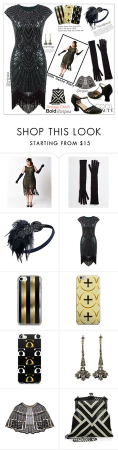"""""""Rocking Stripes At A 1920s' Theme Dance Party"""" by atelier-briella ❤ liked on Polyvore featuring Dolce&Gabbana, Sweet Romance, Whiting & Davis, iPhonecases and BoldStripes"""
