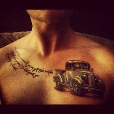 I drive your truck Car Tattoos, Body Art Tattoos, I Tattoo, Tattoo Quotes, Mens Tattoos, Tatoos, Monster Truck Drawing, Cool Truck Accessories, Truck Tattoo