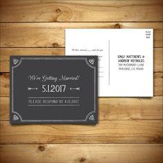 RSVP DIY Wedding Template RSVP Postcard Template By BirDIYdesign - Editable postcard template