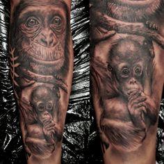 Monkey Tattoos, Portrait, Headshot Photography, Portrait Paintings, Drawings, Portraits