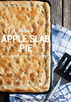 Apple Slab Pie Recipe from Scratch via @contessa_cooks