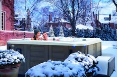 The Promise hot tub in its natural environment.