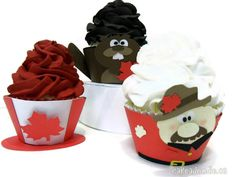 Items similar to Canada Day Cupcake Wrappers - Set of 12 on Etsy Canada Day Party, Canada Summer, O Canada, Lazy Summer Days, Cupcake Wrappers, Happy Day, Fourth Of July, Red And White, Crafts For Kids