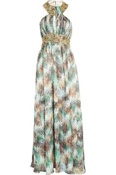 Great print on this maxi dress
