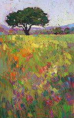Boho Art - Wildflower Hill by Erin Hanson