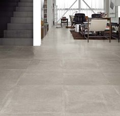 concrete look tile cement gray 60 x 60 - ftille Concrete Look Tile, Concrete Houses, Concrete Floors, Stone Flooring, Kitchen Flooring, Floor Design, House Design, Style Tile, Home Projects