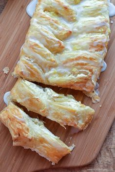 A simple and delicious recipe for Lemon Ricotta Danish that uses puff pastry so it only takes a few minutes to make!