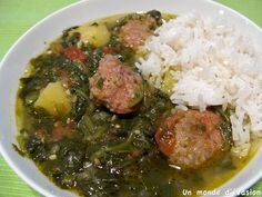 A traditional Malagasy dish: Romazava. Madagascar Food Recipe, West African Food, Greek Lemon Chicken, Exotic Food, World Recipes, Easy Cooking, Palak Paneer, Food Videos, Good Food