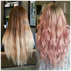 15 Amazing Dark Ombre Hair Color Ideas to Make You Look Trendy Blond Rose, Rose Gold Hair Brunette, Pink Blonde Hair, Pink Ombre Hair, Pastel Pink Hair, Rose Hair, Baby Pink Hair, Gray Hair, Ombre Rose