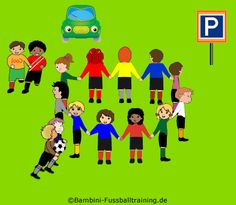 Coordination - Looking for a parking space - Kids Soccer - Soccer drills for kids from U5 to U10 - Soccer coaching with fantasy