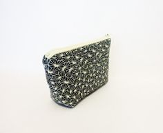 Cotton Zipper Pouch Small Pouch Cosmetic Bag by handjstarcreations, $9.00
