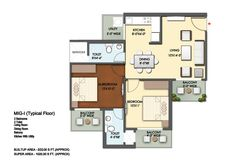 Mahagun Mantra Floor Plan 1025