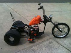 Mini bike diy drift trike Ideas for 2020 Mini Chopper Motorcycle, Mini Motorbike, Chopper Bike, Mini Bike, Motorcycle Bike, Vw Trike, Trike Bicycle, Bike Drift, Drift Trike Motorized
