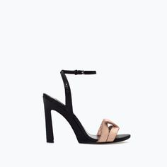 Image 1 of HIGH-HEELED SANDAL WITH ANKLE STRAP from Zara