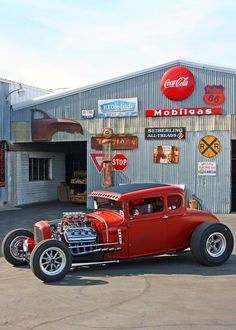 1930 Model A coupe with 392 Hemi engine, 6 carbs. Was a cover shot for Canadian Hotrods magazine...