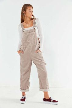 01e8026d2b Slide View  1  BDG Relaxed-Fit Corduroy Overall Bib Overalls