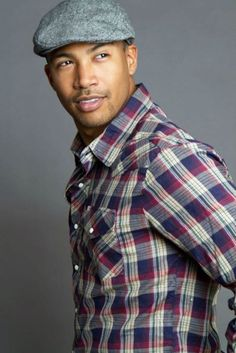 Charles Michael Davis Handsome Casual Look with a hat