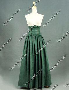 High Quality Victorian Edwardian Downton Abbey Faux Suede Walking Skirt Reenactment Clothing Cosplay Costume