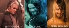 Jeff Hardy, CM Punk, Seth Rollins, The Shield, Hardy Brothers, WWE, SMack Down,  Raw, NXT, Wrestler.