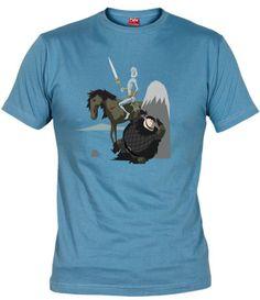 Camiseta con la escena del valeroso guardián de la noche Samwell Tarly, de la exitosa serie Juego de Tronos, intentando ocultarse del Caminante Blanco.