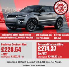 Land Rover Range Rover Evoque Diesel Hatchback 2.0 eD4 SE 5dr 2WD Range Rover Evoque, 4x4, Diesel, Diesel Fuel
