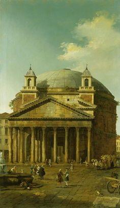 The Athenaeum - Rome: The Pantheon (Canaletto - )