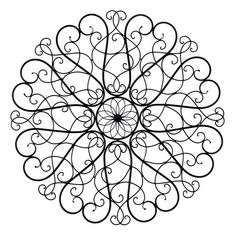 This Round Iron Scroll Wall Art represents a clear depiction of how wrought iron can become a piece of fine art! Use this complex display of metal fluidity to give any area of your home a generous dose of elegance and sophistication. This design is also recommended for outdoor areas, where it can emphasize the gorgeousness of a green garden, or it can highlight a colorful and flower-rich background.
