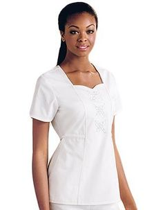 5a1d57918e1 Baby Phat Womens Sweetheart Neck Nursing Scrub Top Item #: CH-26813 view  details